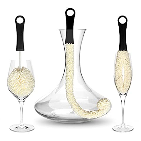 Bar AmigosTM Set of 3 - Decanter & Glassware Cleaning