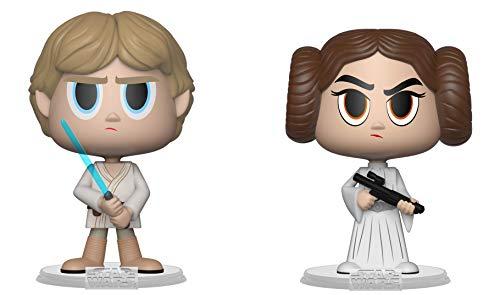 FunKo 31620 VYNL 10,2 cm 2er-Pack: Star Wars: Princess Leia & Luke Skywalker (A New Hope), Mehrfarbig