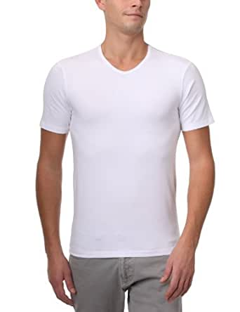 Dim Dry & Cool - Pack de 2 - T-Shirts col V - Homme - Blanc - FR : Large (Taille fabricant : 4)