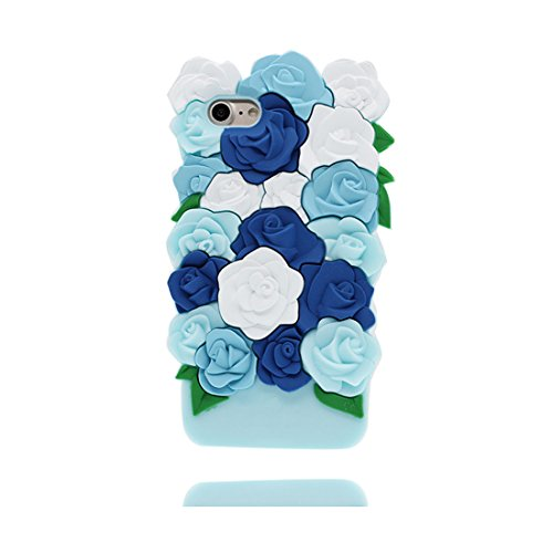 iPhone 6 Copertura,iPhone 6S Custodia, Cartoon 3D Arcobaleno orso del sole Pelle morbida in gomma siliconica per la pelle TPU cover per iPhone 6 / 6S 4.7inch *4