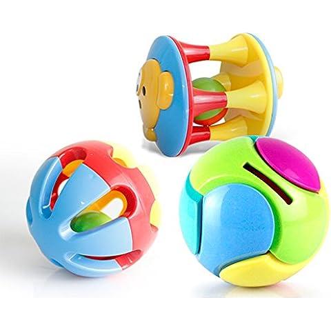 Intimate WM Heart 3 PC Juguete Agarre La Bola Traqueteos Educativos De Mano De 0-1 Años De Edad Los Niños Y Bebé De 6-12