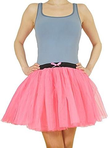 Neon-Pink Tütü Tutu Rock Unisex sehr dehnbar bis Gr. XL Accessoire Junggesellenabschied Fasching (Einfache Gruppe Kostüm-ideen Für Erwachsene)