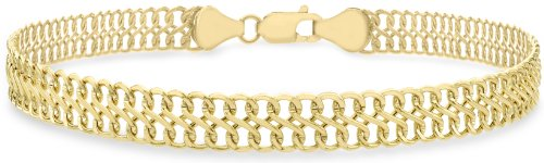 carissima-gold-9-ct-yellow-gold-figure-8-curb-bracelet-of-19-cm-75-inch