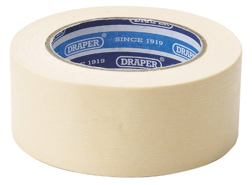 EXPERT 50M X 48MM MASKING TAPE ROLL - Expert Quality, low tack, easy tear and re-positional. Ideal for professional usage. Can be used for low bake masking applications. Clean peel up to 12 hours after usage. Display packed. by DP TOOLS (Professional Peel)