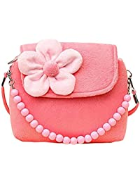 Jelinda Plush Purse Girls Shoulder Bag Beaded Small Crossbody Satchel Handbags Girl Shoulder Purse