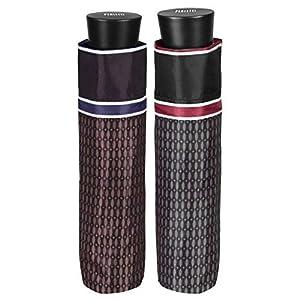 PERLETTI 26010 Gent Mini 54/8 - Paraguas para Hombre con diseño de 3 Secciones, Resistente al Viento