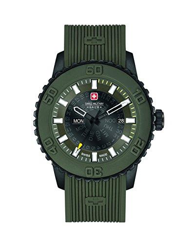 Swiss Military Reloj Analogico para Hombre de Cuarzo con Correa en Silicona 6-4281.27.006