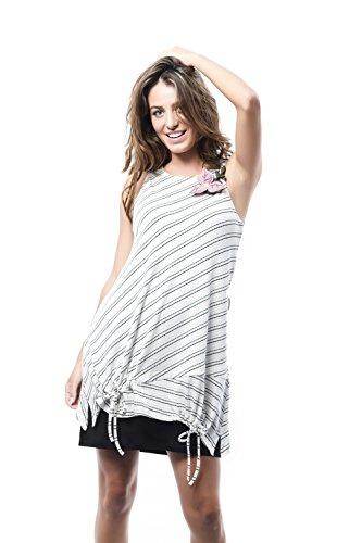 Mamatayoe Cereza, Vestido Casual para Mujer, Marrón (Taupe), X-Large (Tamaño del Fabricante:XL)