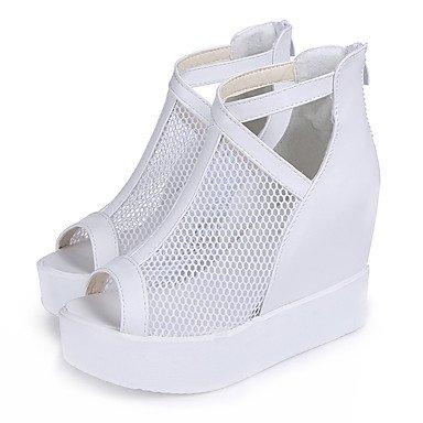 LFNLYX Da donna-Stivaletti-Casual-Zeppe-Zeppa-PU (Poliuretano)-Nero / Bianco White