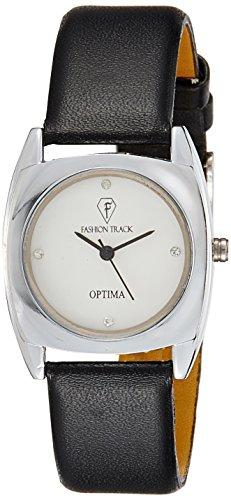 Optima FT-ANL-2466-BK Fashion Track Analog Watch For Girls