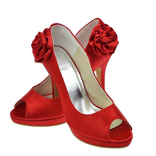 Donna Rosso Sandali Centimetri 10 Tacco Minitoo Da qgExa7gB
