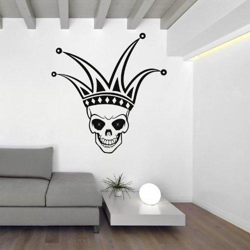 Joker Skull - Teschio Adesivo da parete Vinyl Wall Stickers Decals