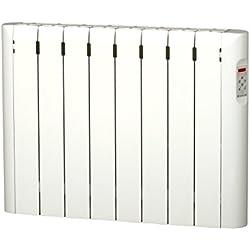 Haverland RC8E - Emisor Térmico Digital Fluido Bajo, Programable, Exclusivo Indicador de Consumo, 8 Elementos, 1000 W, Blanco