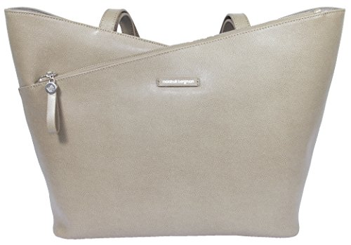 Marshall Bergman Athena 13-Inch Leather Tote Bag - Taupe e9d413f9d853a