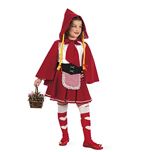 Rotkäppchen Märchen Kostüm Kinder Kleid, Gürtel und Umhang Kostüm Klassiker Gr 146/152