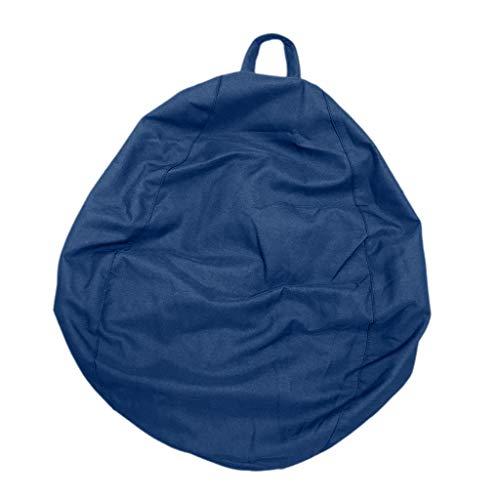 D DOLITY Sitzsackhülle ohne Füllung - Königsblau