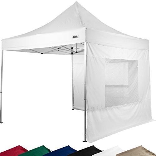 STILISTA® Falt-Pavillon 3x3m, 2 Seitenteile, WASSERDICHT, versiegelte Nähte, EV1 Voll-Aluminium, Tragetasche