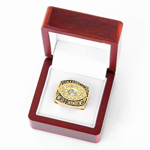 S-P Sports Fans Collection Champion Rings Fans Herren Memorial Rings High-End-Kollektionen Fans Legierungsringe Herren-Accessoires Vintage-Accessoires, Gold, 11 (49ers Armband)