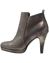 Anna Field Plateau Ankle Boots Mujer–Botines con tacón en negro, oro, pardo o azul–HIGH Heel Plateau Botines