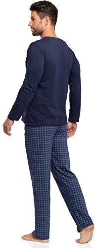 Timone Herren Schlafanzug 1010 Blau