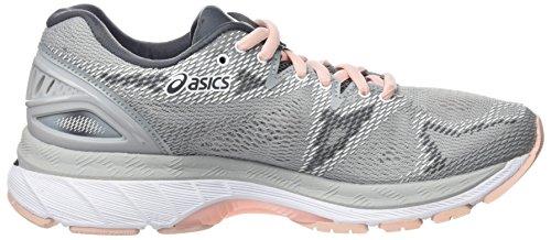 Asics Damen Gel-Nimbus 20 Laufschuhe Grau (Mid Greymid Greyseashell Pink 9696)