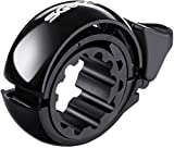 SGODDE Fahrradklingel Laut, O Design Fahrradglocke für Alle Fahrrad Lenker, Q Bell Radfahren Fahrrad MTB Mountainbike Glocke Alarm Horn Ring, für 22.2-31.8mm Lenker Schwarz (Dunkel Schwarz)