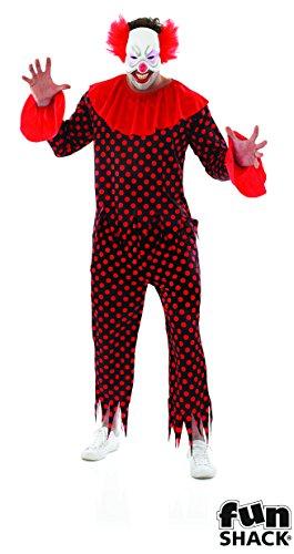 Clown Kostüm Furchterregende - Fun Shack Halloween Mann Kostüm Furchterregend Männlich Clown Größe