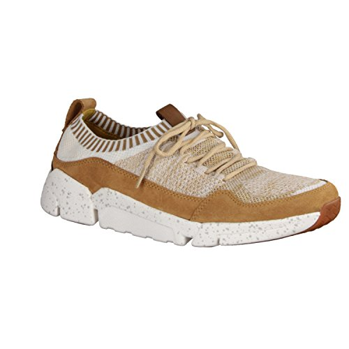Clarks Triactive Knit, Sneakers Basses Homme Marron (Tan)