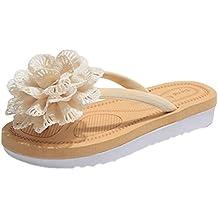 Sentao Bohemia Flores Zapatos Sandalias Mujeres Playa Zapatos Flip Flops zapatillas