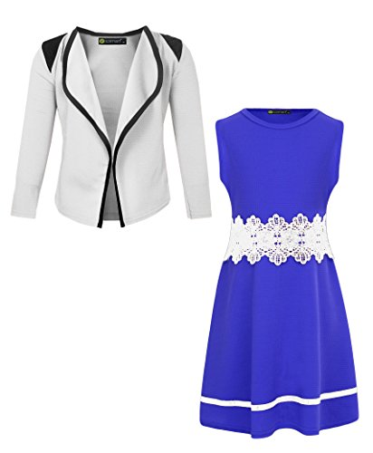 LotMart Sleeveless Girls Dress Bundle With Blazer Free Gift Pen Per parcel