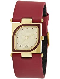 Sonata Yuva Analog Gold Dial Women's Watch-ND8919YL04AC