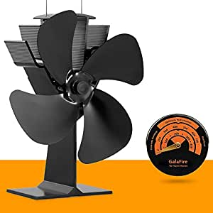 Free Gift Magnetic Stove Thermometer No Electricity Required Heat Powered Stove Fan Eco Fan