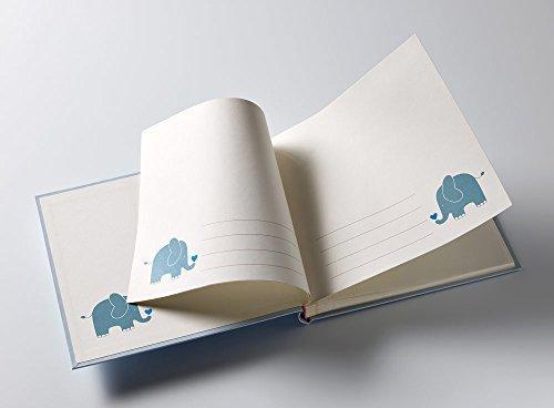 walther design UK-148-L Babyalbum Baby Animal, Blau, 25x28 cm