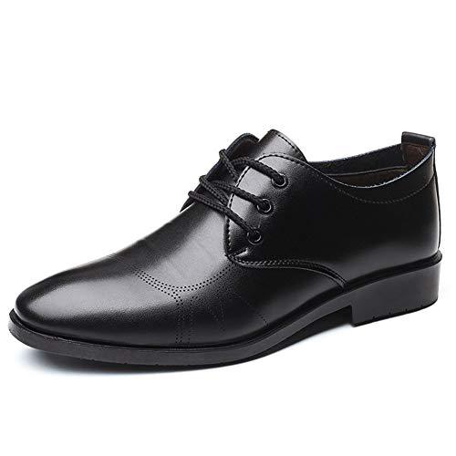XYZDZ Hohe Qualität Business Oxford Männer Casual Formal Schuhe schnüren Sich Oben Mikrofaser Leder Rundkopf Fest Farbe Genahter Gummi Bottom Anti-Rutsch-Minimalist Für Männer