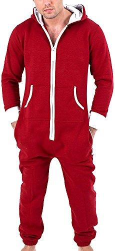 Juicy Trendz Herren Jumpsuit Jogging Trainingsanzug Anzug Overall Wein M