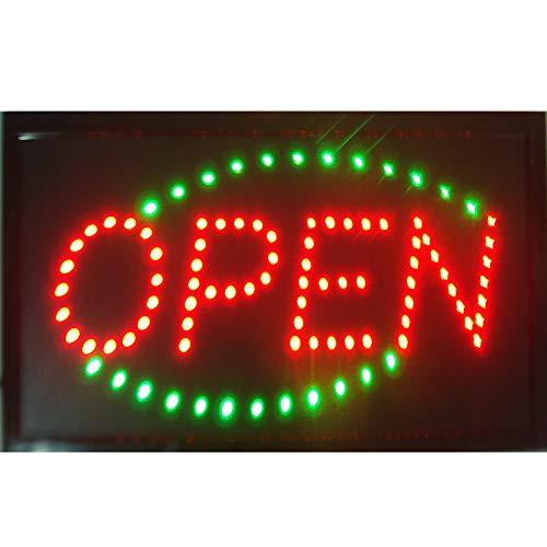 CHENXI LED Schild Open Bright Blinkende Fenster Aufhängen Display Neon Light Shop 48x 25cm für Business Modern 48 X 25 cm D
