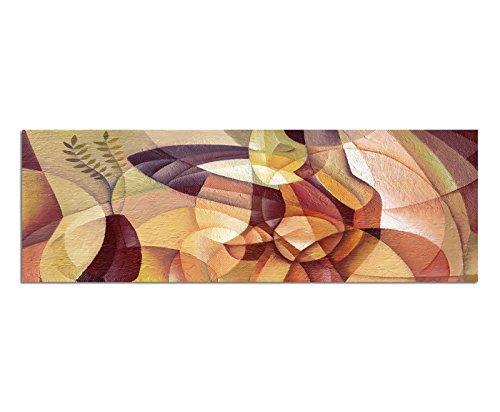 Panoramabild auf Leinwand und Keilrahmen 150x50cm Gemälde Malerei Kubismus Portrait Frau