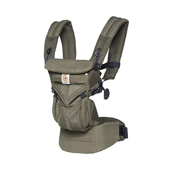 ErgoBaby Omni 360 Baby Carrier Mesh Khaki Green Ergobaby ergobaby baby carrier. Unisex children's baby carrier backpacks. Omni 360 Cool Air Beanbag - Midnight Blue (EBCS360PMIDBLU) 1