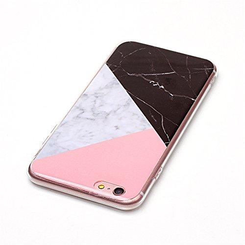 iPhone 6 Plus Hülle ,LANDEE Marmor Serie Flexible TPU Silikon Schutz Handy Hülle Handytasche HandyHülle Etui Schale Case Cover Tasche Schutzhülle für Apple iPhone 6 Plus 5.5 Zoll(6SP-DLS-004) 6SP-DLS-001