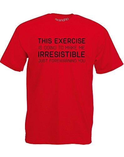 Brand88 - Irresistible, Mann Gedruckt T-Shirt Rote/Schwarz