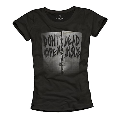 Magliette donne con stampe - DON'T OPEN DEAD INSIDE - T-shirt Walking Dead nera S