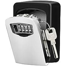 Caja de cerradura con llave, [montado en la pared]Diyife llave de combinación Caja de almacenamiento bloqueo seguro para para el hogar Garaje escuela para las llaves de casa