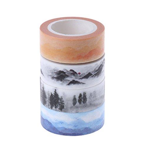 Yunso 1 Rolle Berg Design 15mmx7M DIY Papier Klebriger Aufkleber Dekorative Washi Tape