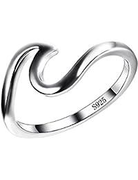 Plata de Ley 925Wave anillo específicamente para las niñas todos los, que su show Unlimited paisaje