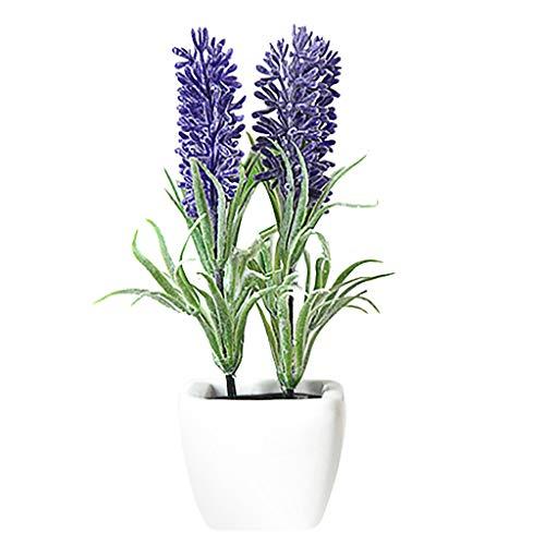 TIREOW künstliche Blumen Bonsai Topf Fahrzeug Parfüm mit Duftenden Reed Oil Diffuser 10ML (E) -