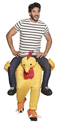 Boland 88098 - Carry Me Costume Pollo da Cavalcare Funny Chicken, Colore Giallo, L/XL