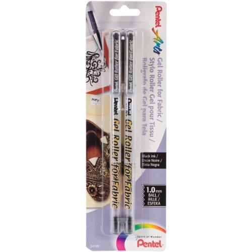 Preisvergleich Produktbild Pentel Gel-Roller Stoff Stifte 1mm 2/Stück, andere, mehrfarbig