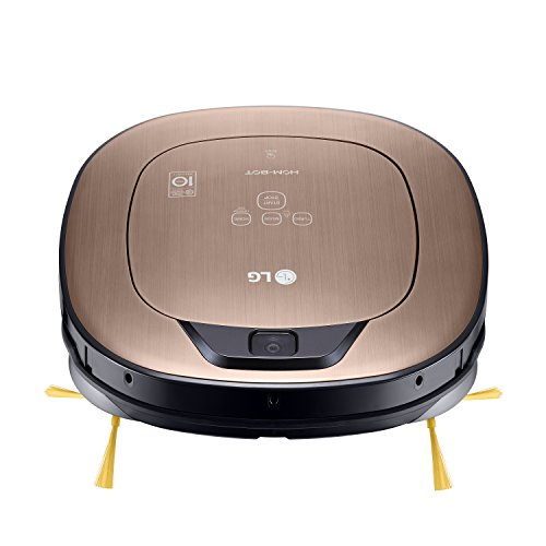 LG Electronics VRD 830 MGPCM Total Care Roboter-Staubsauger (Raumerkennung durch Dual-Kamera System, 4 Reinigungsmodi, inkl. Wischmopp und Teppich- und Tierhaarbürste) metal gold - 6