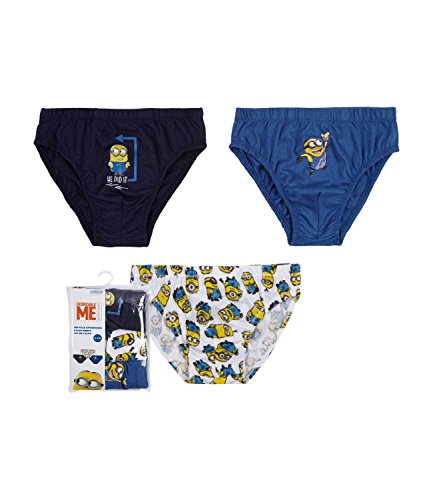 Minions Despicable Me Jungen 3 er Pack Slips - marine blau - 140