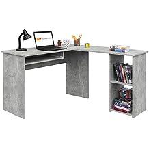 Style Máquina de coser Modelo ... COMIFORT Escritorio, Mesa de Ordenador, Forma L, 120/140x40x75 cm (Stone